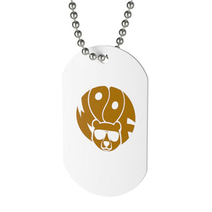 Woof Bear Dog Tag - Bearified Gear