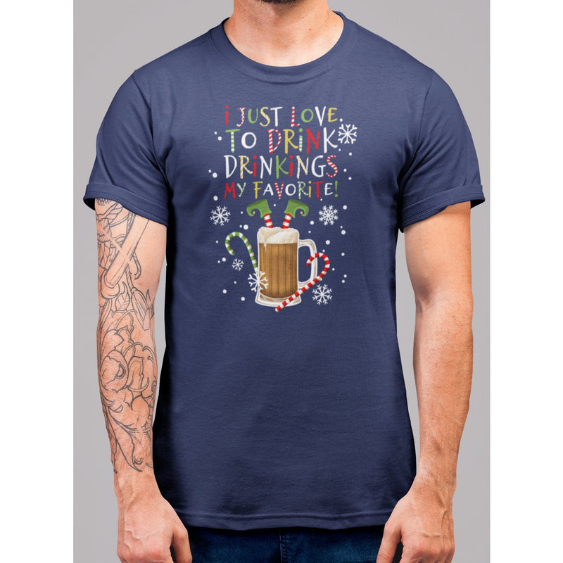 Drinking Is My Favorite Christmas T-Shirt - Bearified Gear