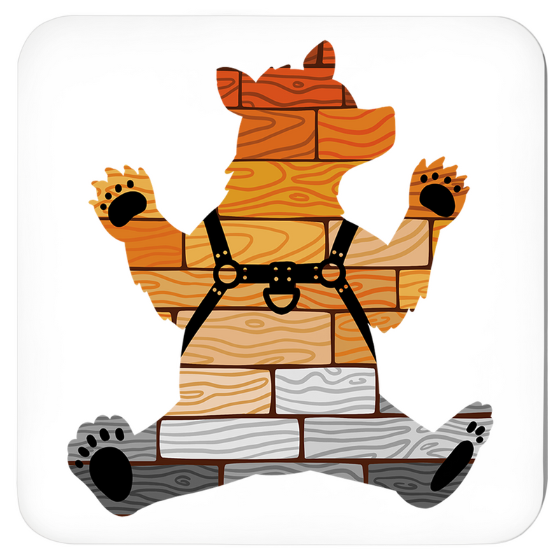 Gay Bear Pride Beverage Coasters - Bearified Gear