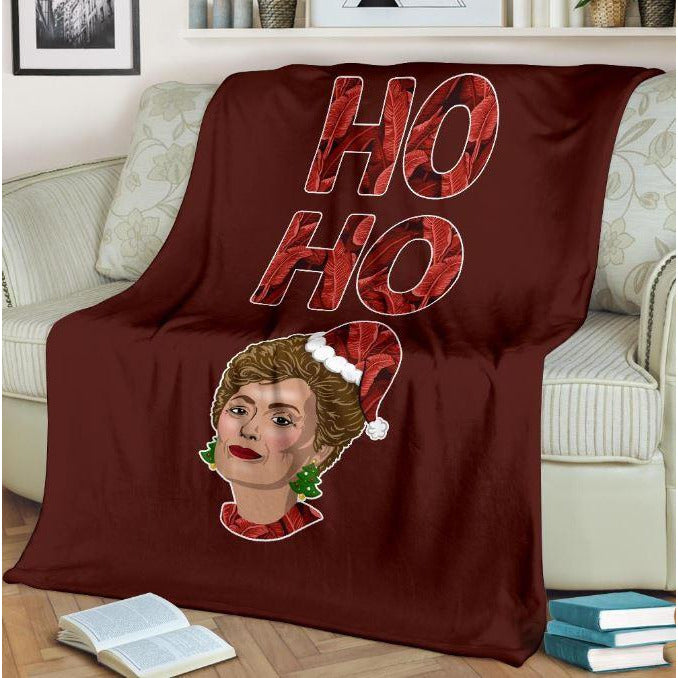 Ho Ho Ho Golden Girls Throw Blanket - Bearified Gear