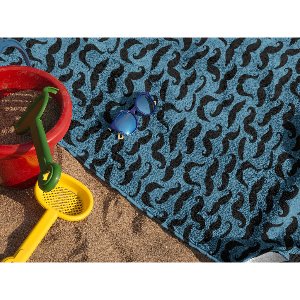 Mustache Print Beach Towel - Bearified Gear
