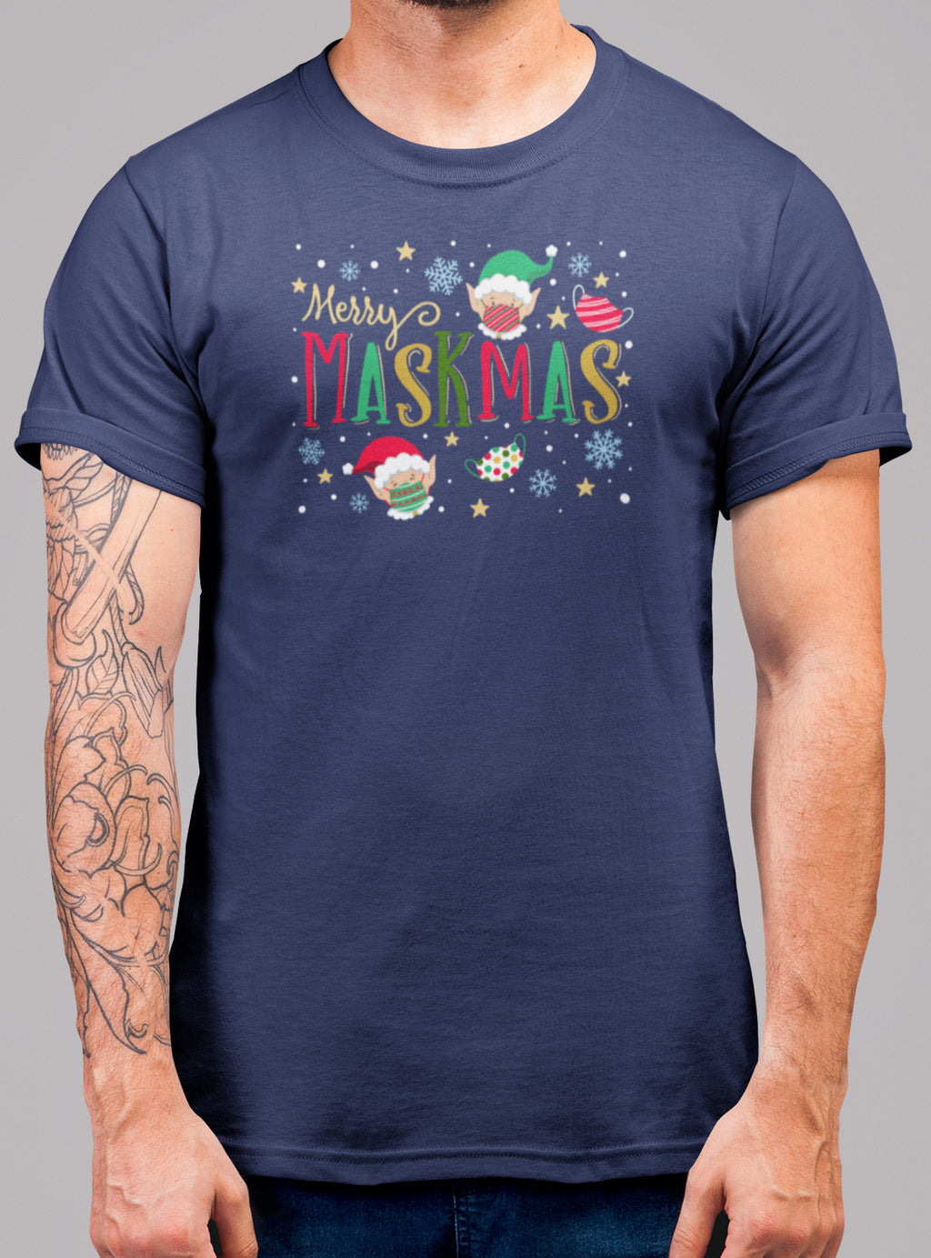 Merry Maskmas Christmas T-Shirt - Bearified Gear