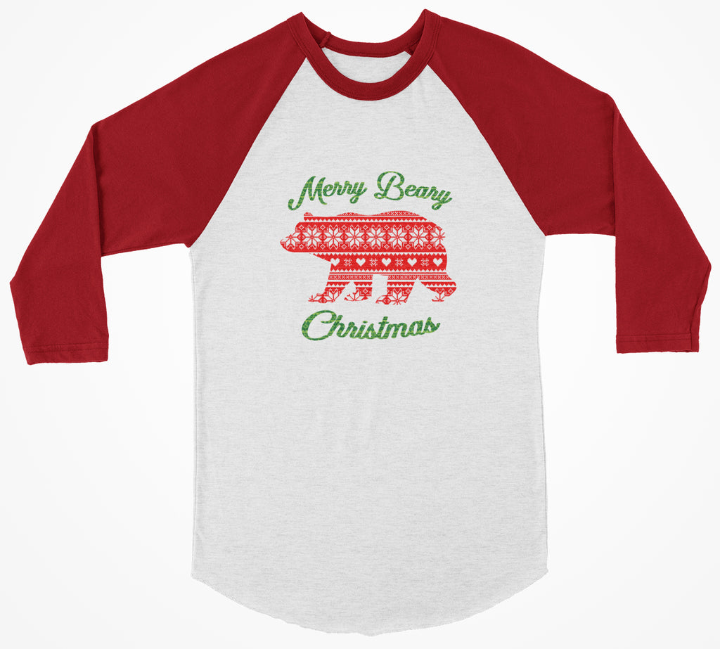 Merry Beary Christmas 3/4 Christmas Shirt - Bearified Gear