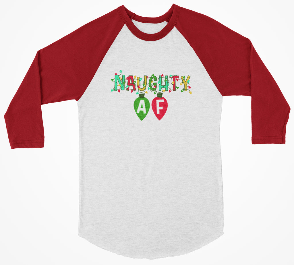 Naughty AF 3/4 Christmas Shirt - Bearified Gear
