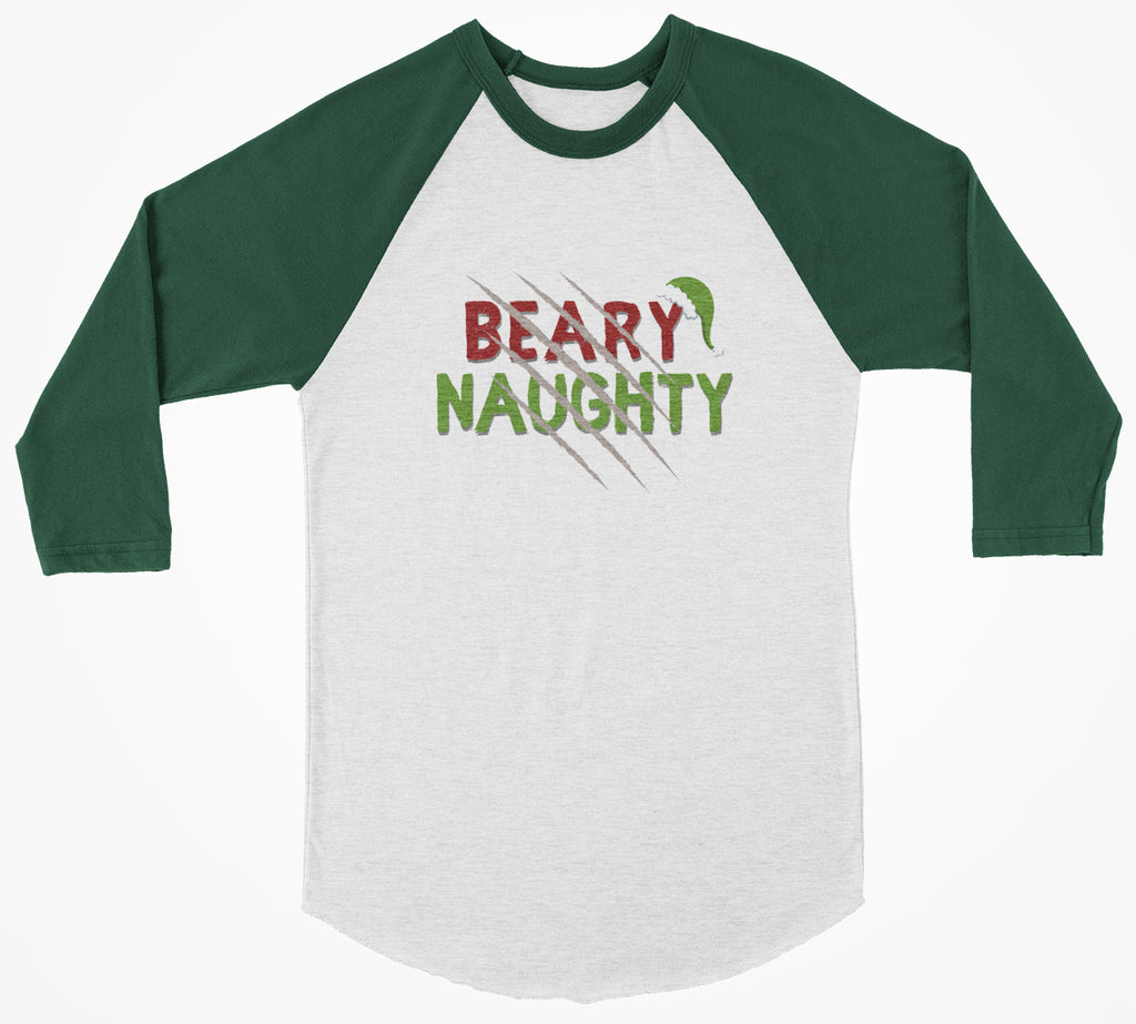 Beary Naughty 3/4 Christmas Shirt - Bearified Gear