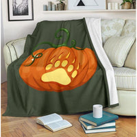 Pumpkin Bear Paw Fleece Blanket - FREE Shipping - Bearified Gear