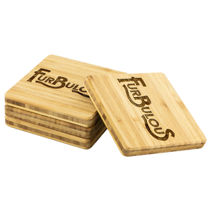 Furbulous Bamboo Coaster Set - Bearified Gear