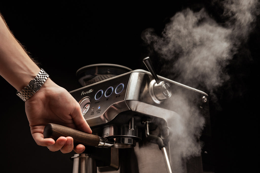 crema coffee products steam lever for breville barista express