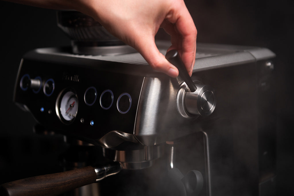 crema coffee products steam lever for breville