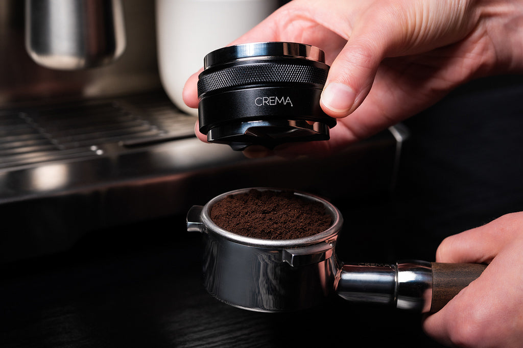 crema coffee products distributor and tamper