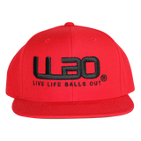 RED Classic Snapback Hat with new Twist