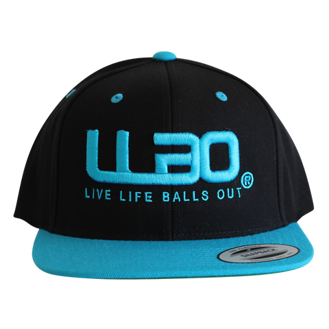 BLACK/BLUE- Classic Snapback Hat with new Twist-