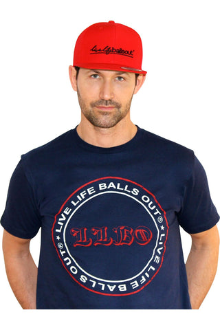 "Red SnapBack Hat + ""BallsOut"" Shirt"