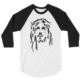 Jesus Piece 3/4 Sleeve Baseball Raglan (Black&White)