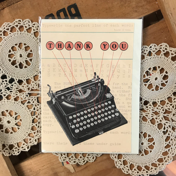 Thank you Typewriter Greeting Card