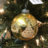 vintage gold ball ornament