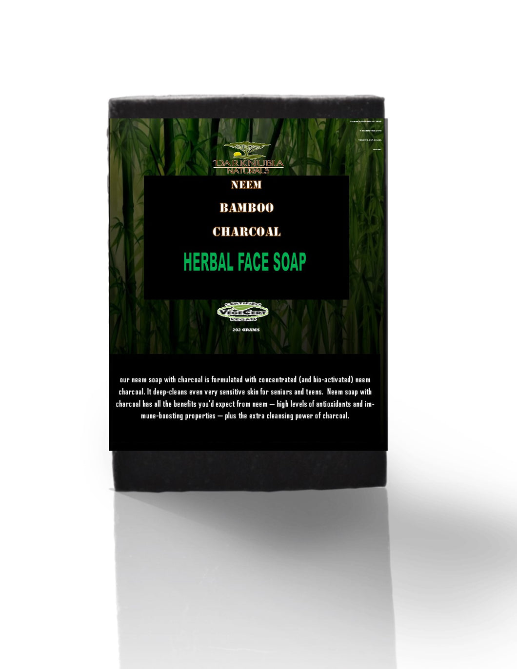 Neem bamboo and charcoal face soap