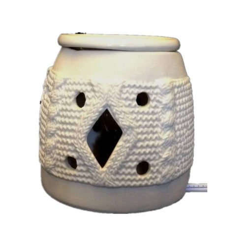 White ceramic oil burner Height: 4.0