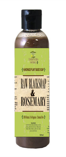 RAW BLACK SOAP WITH ROSEMARY BODY WASH