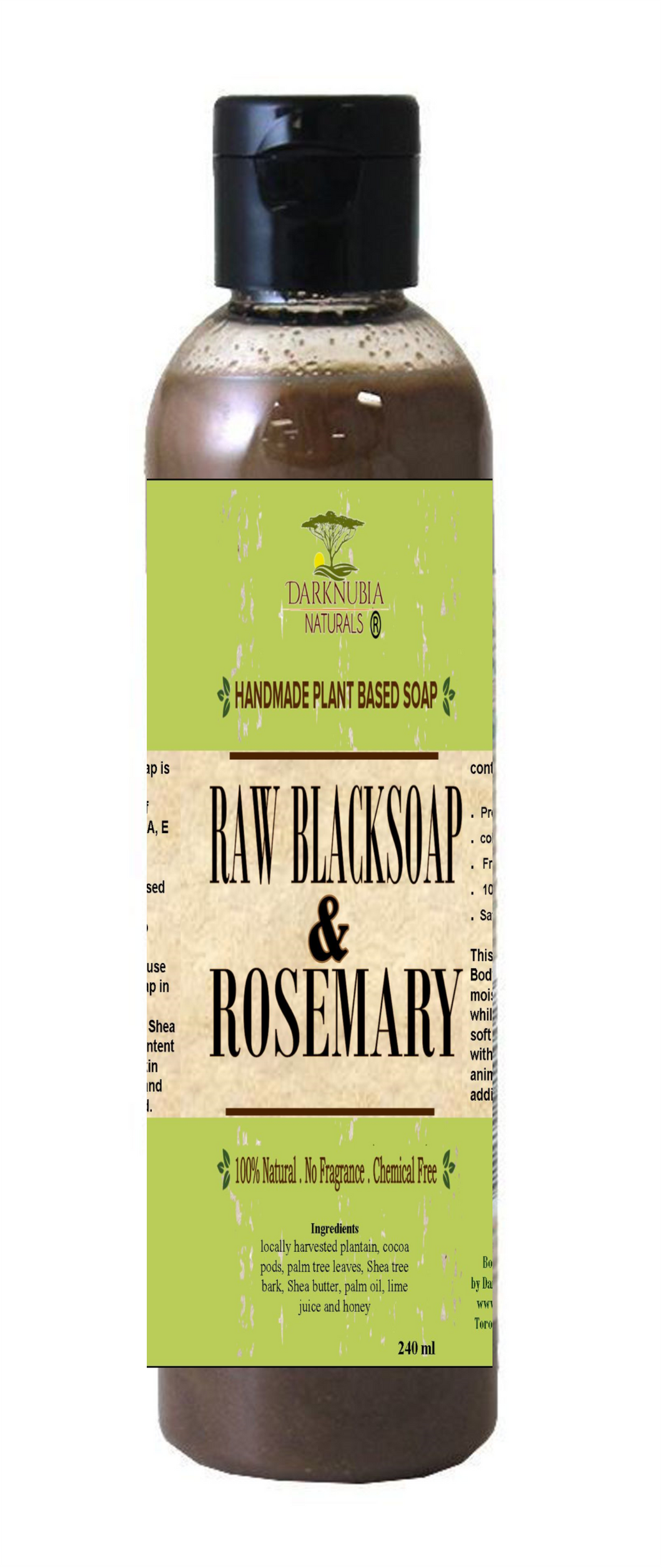 RAW BLACKSOAP WITH ROSEMARY BODY WASH (50)