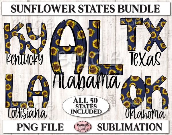 Sunflower States Sublimation Bundle