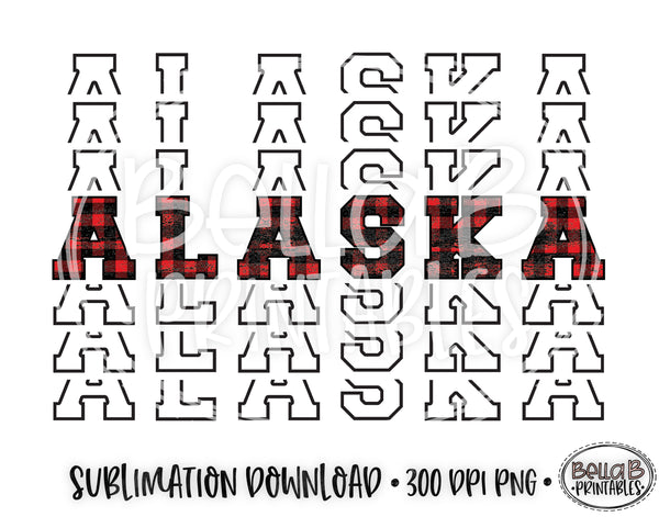 Alaska State Sublimation Design, Mirrored State Design
