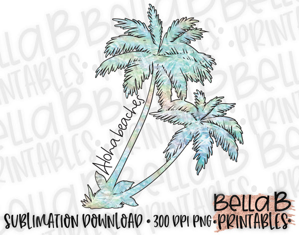 Aloha Beaches Sublimation Design, Summer Design