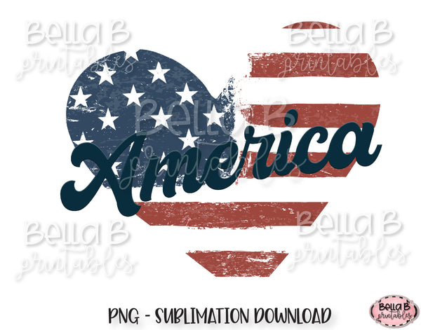 Vintage Retro America Sublimation Design