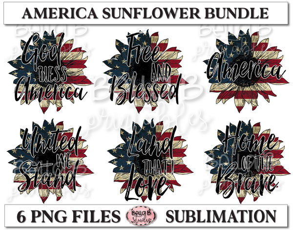 America Sunflower Sublimation Bundle