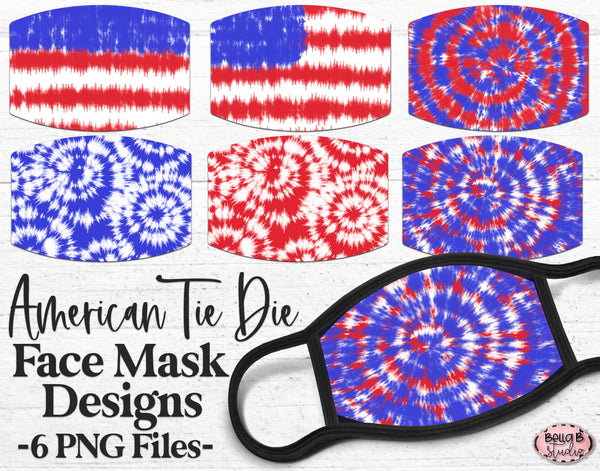 USA Tie Dye Sublimation Face Mask Designs
