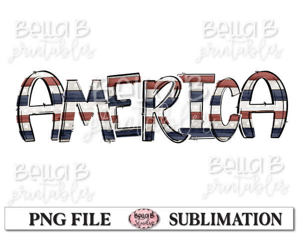 America Sublimation Design