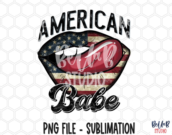 American Babe Lips Sublimation Design