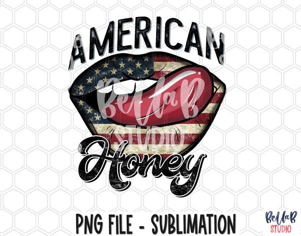 American Honey Lips Sublimation Design