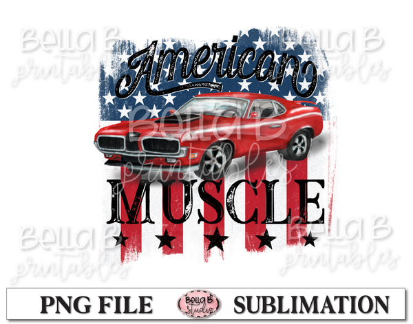 American Muscle Sublimation Design