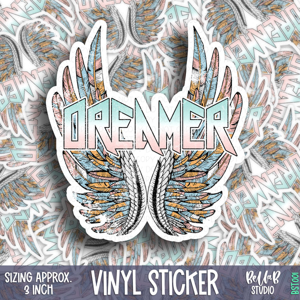 Dreamer Vinyl Sticker - Glossy Permanent Weatherproof