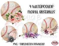Floral Baseball Sublimation Elements Bundle