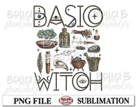 Basic Witch Sublimation Design, Halloween