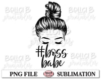 Boss Babe Sublimation Design