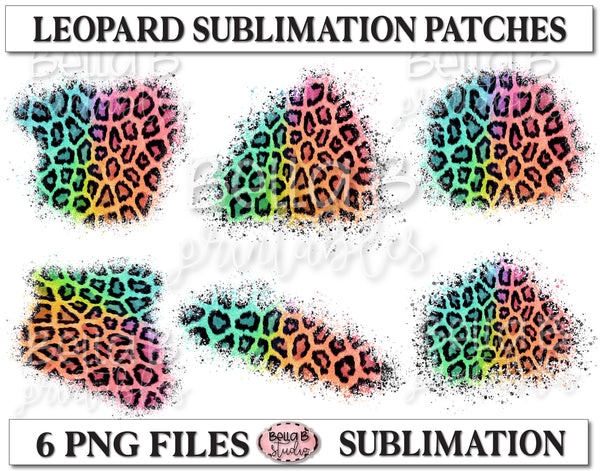 Bright Leopard Sublimation Patches - T Shirt Bleaching Patches