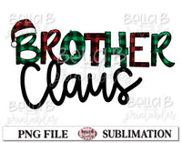 Brother Claus Sublimation Design