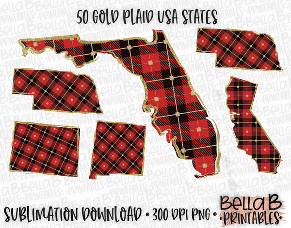Buffalo Plaid United States Bundle, Sublimation Designs