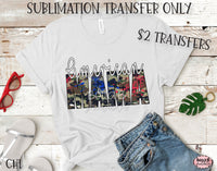 American Mama Sublimation Transfer-Ready To Press-CH1