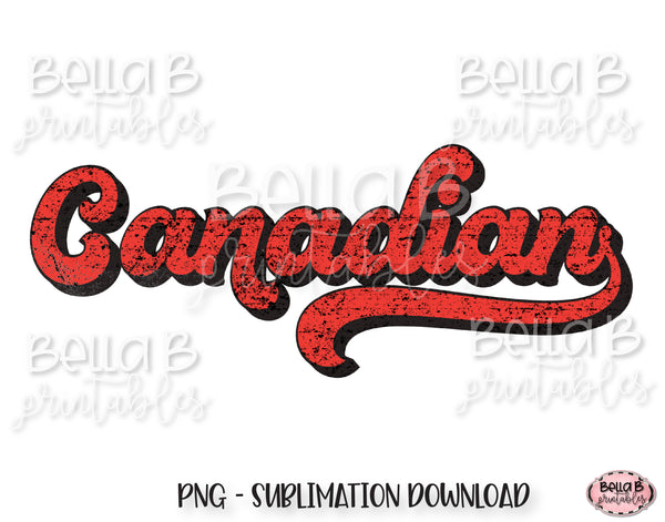 Canadian, Retro Canada Sublimation Design