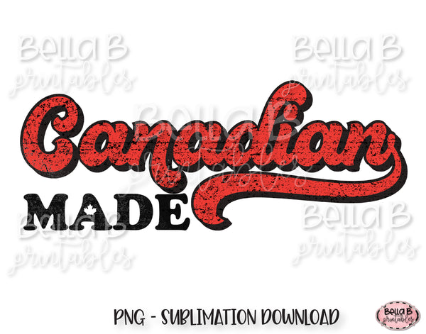 Canadian Made, Retro Canada Sublimation Design