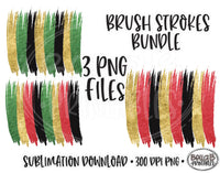 Christmas Brushstokes PNG Bundle