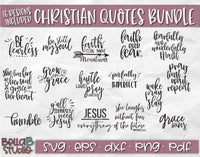 Christian Quotes SVG Bundle