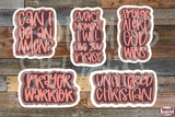Christian Stickers, Clip Art, Print and Cut