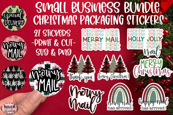 Christmas Stickers, Small Business Packaging Stickers