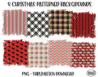 Christmas Sublimation Background Bundle, Backsplash
