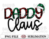 Daddy Claus Sublimation Design